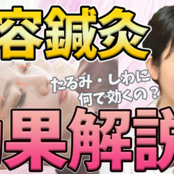 【動画】美容鍼灸の効果って?たるみ・しわにどうして効くの??【解説】